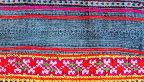 Thai Embroidery, Handmade Tribe Textile Style Stock Photo