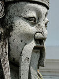 Thai emperor. Closeup of emperoer statue in a Thai Wat temple Stock Images