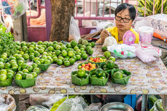 Thai exotic fruits (lemon) in market Royalty Free Stock Image