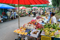 Thai exotic fruits in market Stock Image