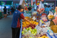 Thai exotic fruits in market Royalty Free Stock Photos