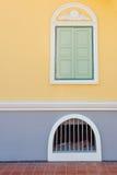 Thai fönster Arkivfoto