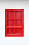 thai fönster för röd stil Arkivbilder