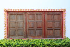 thai fönster för stil Arkivbild
