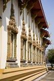 thai fönster för tempel Royaltyfria Bilder
