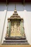 thai fönster för tempel Arkivfoton