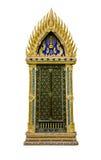 thai fönster för tempel Arkivfoto