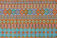 Thai fabric pattern Royalty Free Stock Images