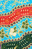Thai fabric pattern close up in detail Stock Photography