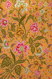 Thai fabric pattern. Thai style fabric weave pattern close up Stock Photography