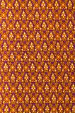Thai fabric pattern. Thai style fabric weave pattern close up Royalty Free Stock Photo
