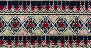 Thai fabric pattern Stock Photo