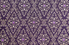 Thai fabric patterns Stock Photography