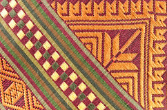Thai fabrics patterns. Thai fabrics texture patterns as a background stock image