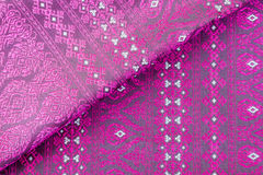 Thai fabrics patterns. Beautiful traditional fabric Thai design royalty free stock image