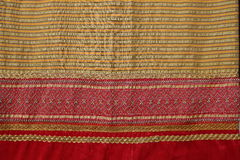 Thai Fabrics Patterns Thai Graphic. Royalty Free Stock Photo