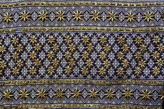 Thai Fabrics Patterns Thai Graphic. Thailand embroidery designs Stock Photo
