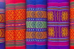 Thai fabrics pillow Royalty Free Stock Photo