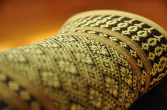 Thai fabrict. Handmade of pillow Royalty Free Stock Images