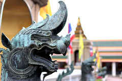 Thai Fairy Tales Creature, Himmapan animals statue, temple in Bangkok Thailand Stock Photography