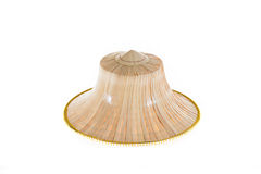 Thai Farmers Palm Hat On White Background. Thai Farmers Palm Hat Isolated on white background Stock Images