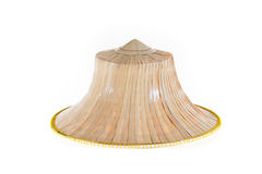 Thai Farmers Palm Hat On White Background. Thai Farmers Palm Hat Isolated on white background Royalty Free Stock Photography