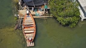 thai fartyg royaltyfria foton