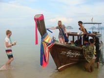 thai fartygfiske Fotografering för Bildbyråer