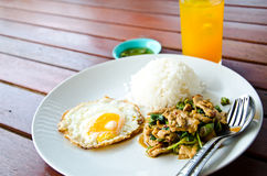 Thai fast food is lunch Royalty Free Stock Photography