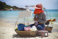 Thai fastfood on the beach Royalty Free Stock Images