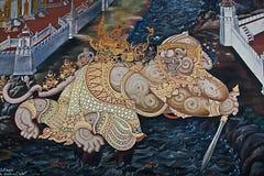 thai felik ramayana för konst Arkivfoton