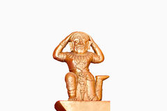 Thai female ogre statue. On white background Royalty Free Stock Photography