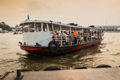 Thai ferry boat. In river of thailand Royalty Free Stock Photos