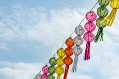 Thai festival decoration with lantern. Stock Photo