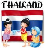 Thai festivals and flag. Illustration Stock Photos