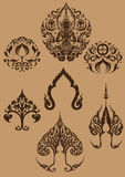 Thai Fine Art symbol set [EPS10] Stock Images