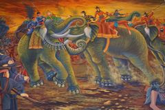 Thai fine art wall painting Stock Photography
