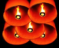 Thai fire balloon. In new year festival Royalty Free Stock Photography