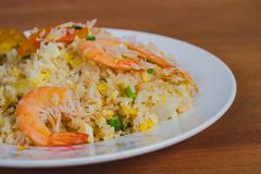 Thai fired rice traditional food ,street stock photos