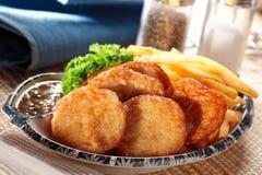 Thai Fish Cake. A plate of thai fish cake royalty free stock photos