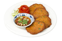 Thai fish cakes Royalty Free Stock Image