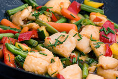 Thai Fish with Vegetable Stock Photo