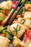 Thai Fish with Vegetable Royalty Free Stock Photography