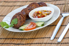 Thai fishcakes Royalty Free Stock Image