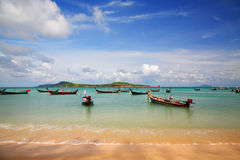 Thai fisherman boat  at rawai beach, Phuket Stock Image