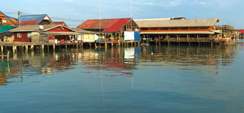 Thai fishermans village Stock Photography