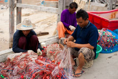 Thai Fishermen Royalty Free Stock Photo