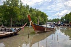 Thai fishing boat in fisherman village Royalty Free Stock Image