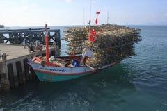 Thai fishing boat royalty free stock photography