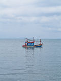 Thai fishing boat movement Royalty Free Stock Images